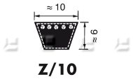 V-snaren Profiel Z/10